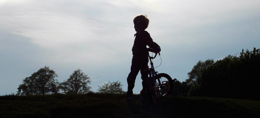 boy bike shilloutte