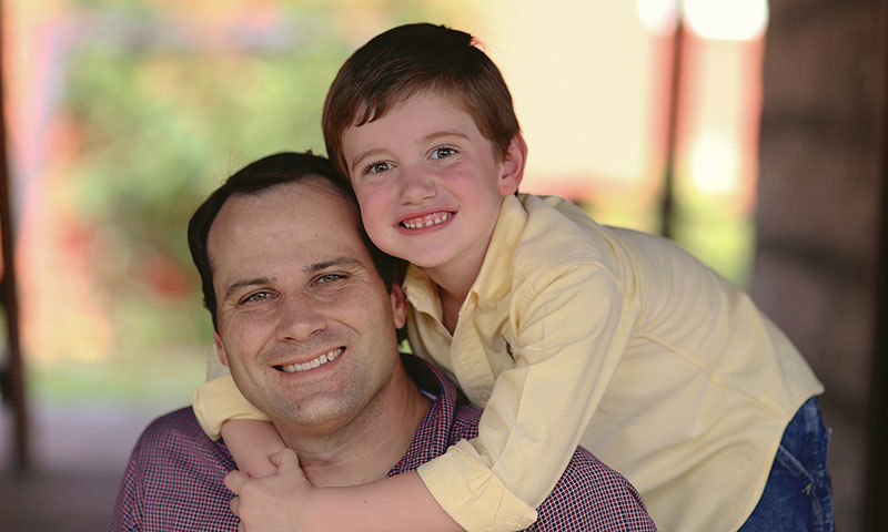 Scott Attebery and his son